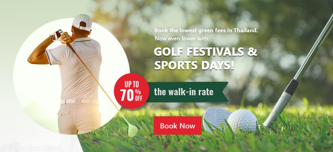 Lowest Green fees with Golf Festival and Sportday