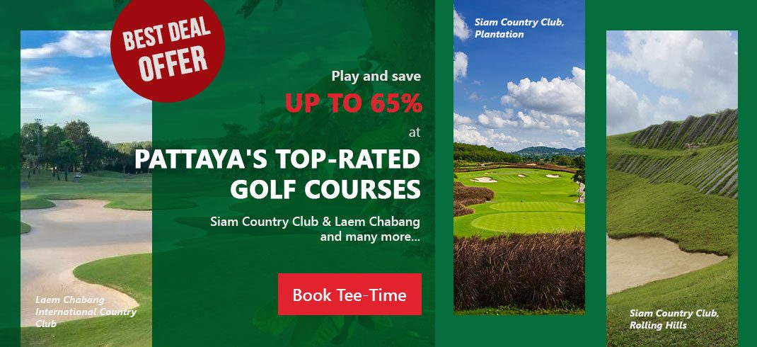 Save 65% off Top-Rated Pattaya Golf Course